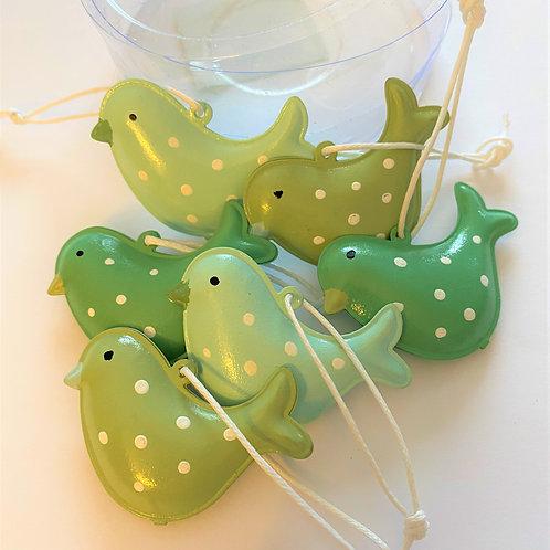 Tin Bird Decorations (Set of 6)