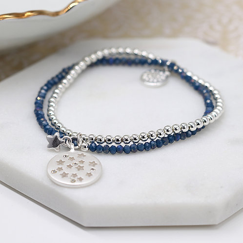 Blue Starry Disc Bracelet