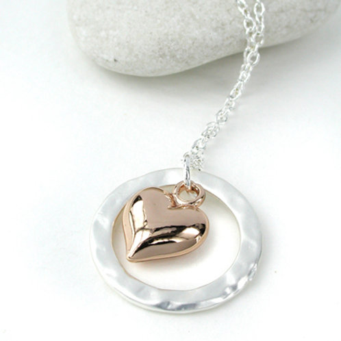 N10083 Rose Gold Heart Necklace