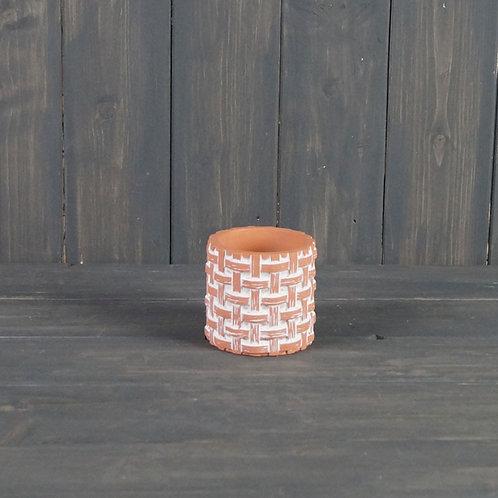 Terracotta Weave Pot (Small)