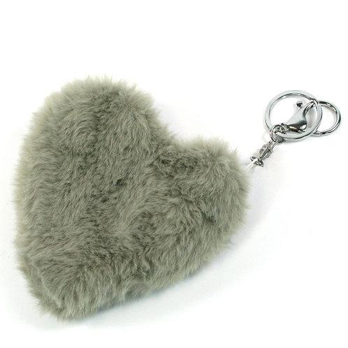 Grey Fluffy Purse