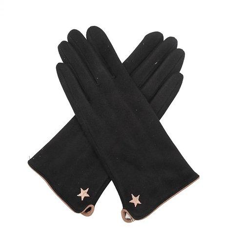 Star Gloves - Black