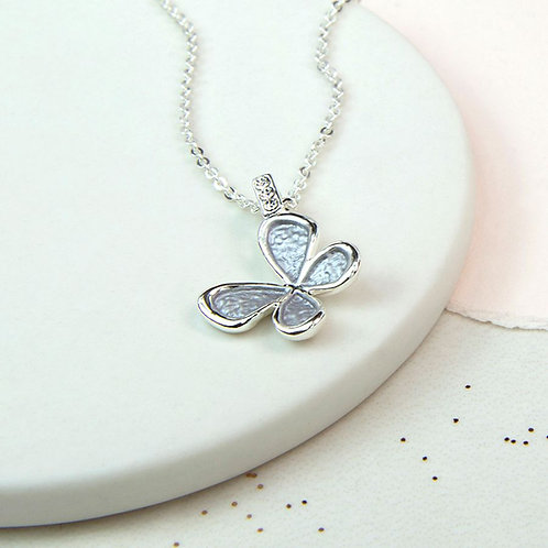 DN19015 Enamel Butterfly Necklace