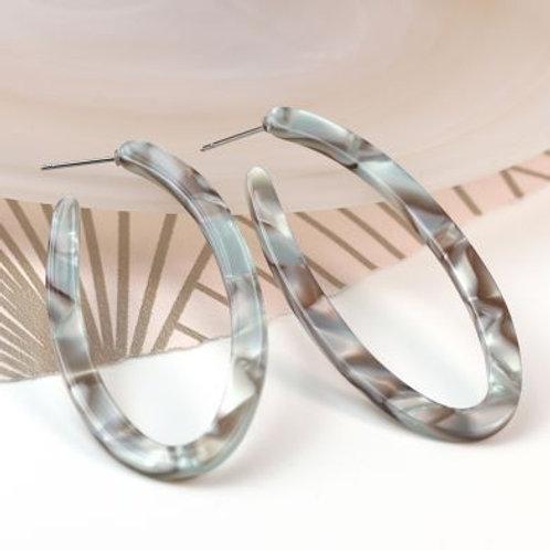 E20017 Oval Abalone Earrings