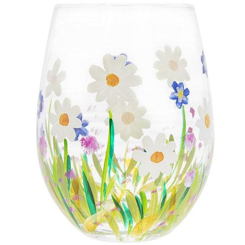 Dainty Daisies Stemless Glass