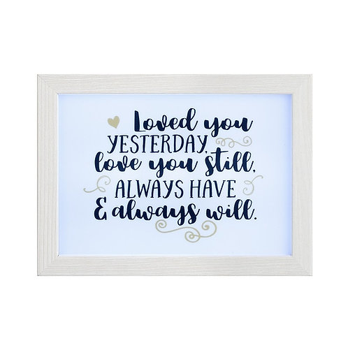 LED Love You Frame