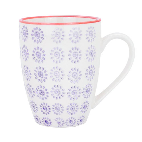 Patterned Mug - Purple and Red