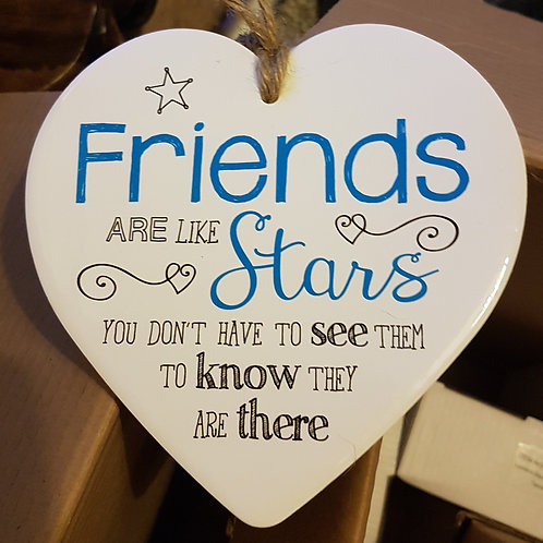 Ceramic Heart - Friends are like stars...