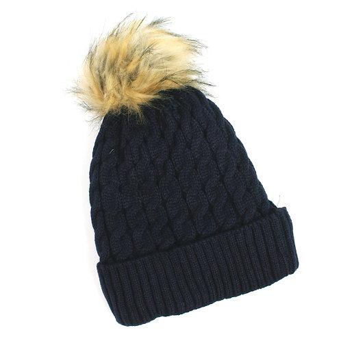 Pom Pom Hat - Navy