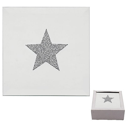 Silver Star Coasters (Set of 4)
