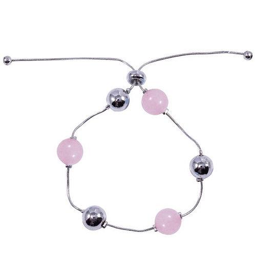 B19036 Pink Drawstring Bracelet