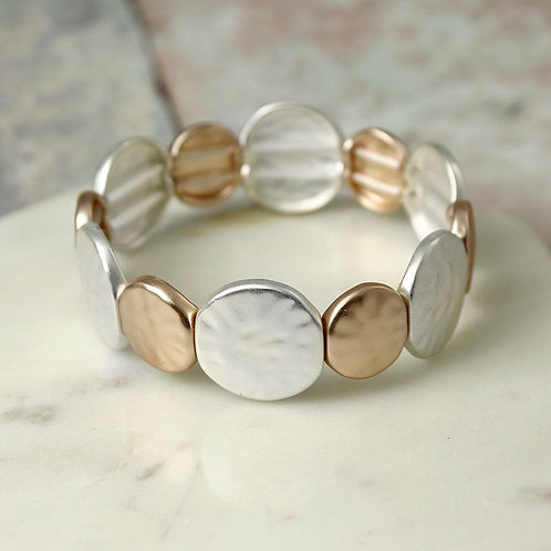 B19020 Matt Si/RG Stretch Bracelet