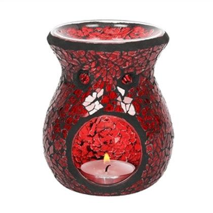 Red Mosaic Oil Burner