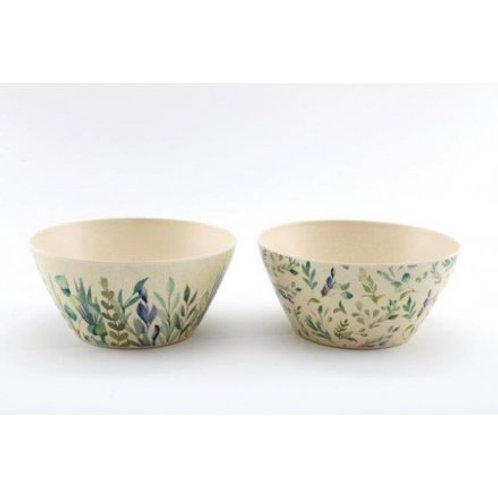Olive Grove Bamboo Bowls (Set of 2)