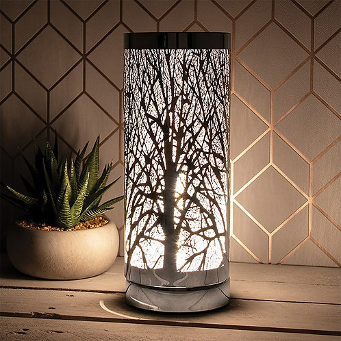 Aroma Woodland Touch Lamp - Silver