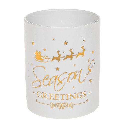 Seasons Greeting Candle