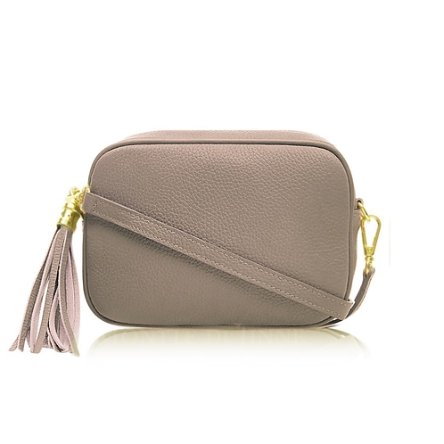 Taupe Camera Bag - Double Zip