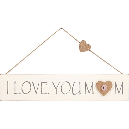 """I Love You Mum"" Button Hanger"