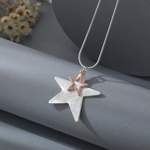 N21018 Double Star Necklace