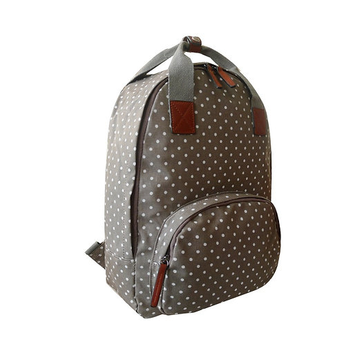 Mini Polka Backpack - Grey