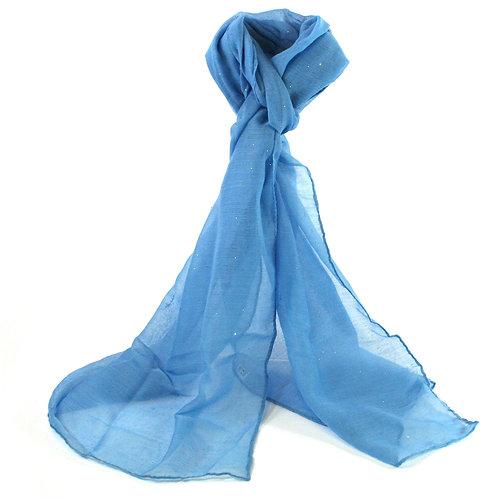 Blue Glitter Scarf