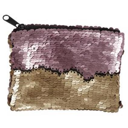 Pink/Gold Sequin Make Up Bag