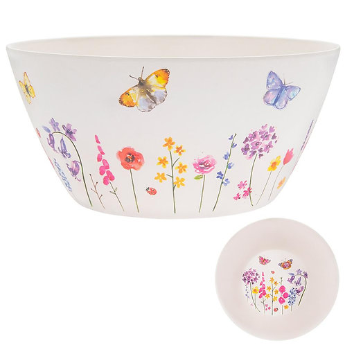 Butterfly Bamboo Salad Bowl