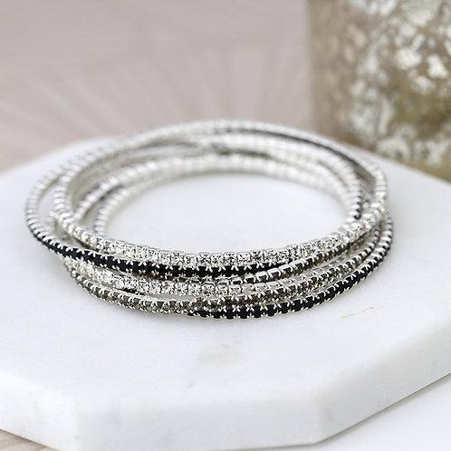 Multi Strand Crystal Bracelet