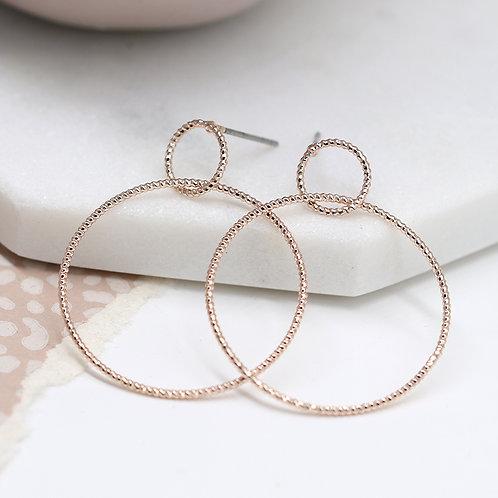 E21003 Rose Gold Hoops Earrings