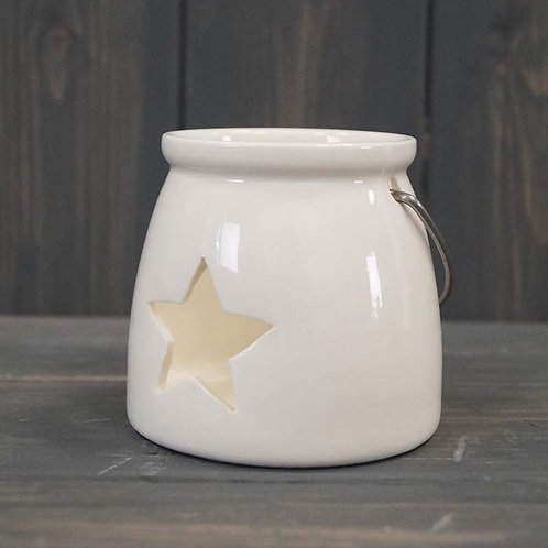 Star Porcelain Tealight Holder