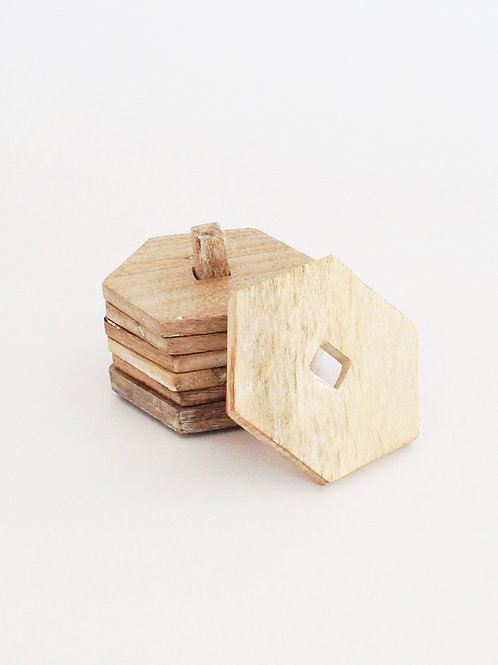 Wooden Hexagon Coasters