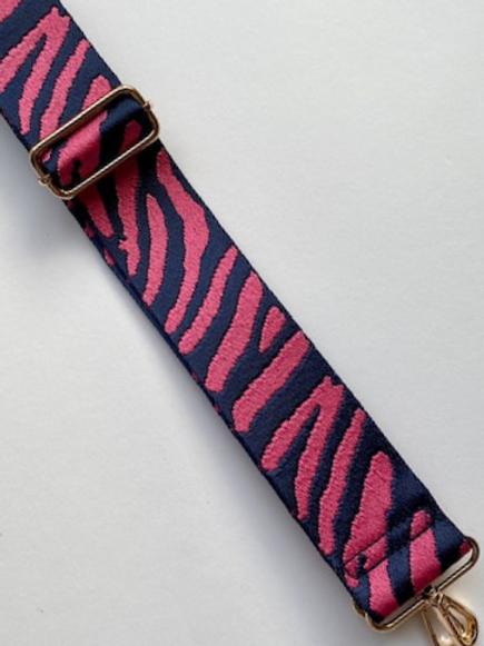 Camera Bag Strap - Fuscia Zebra Stripe