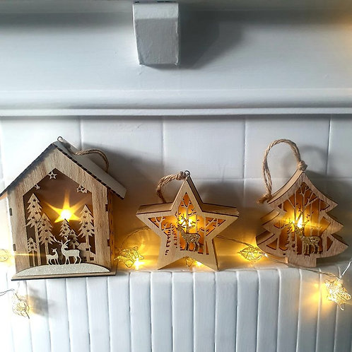 Wooden LED Star / Tree / House