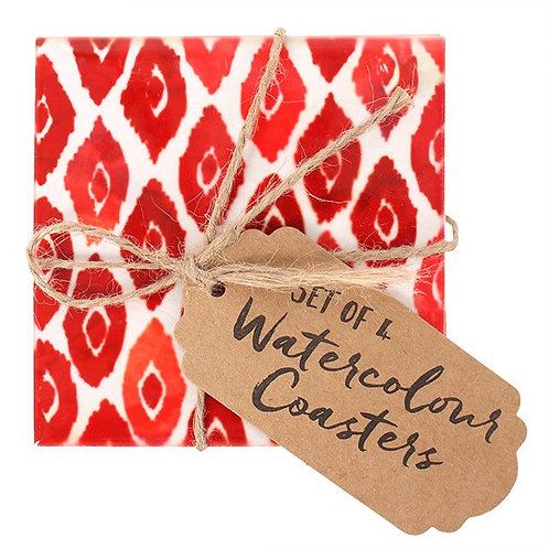 Scarlet Coasters (Set of 4)
