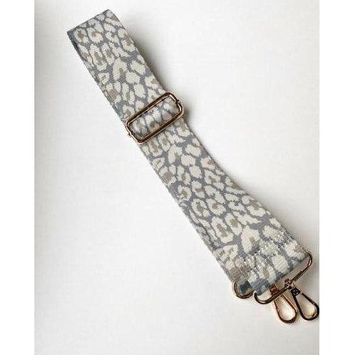 Camera Bag Strap - Grey Snow Leopard
