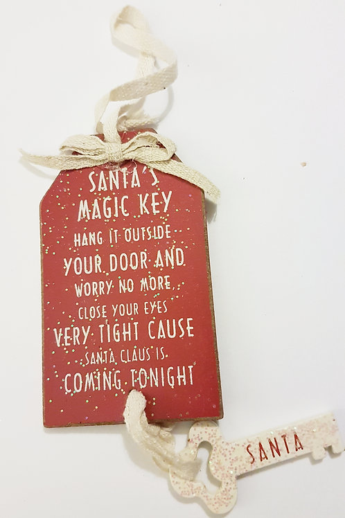 Wooden Santa Key