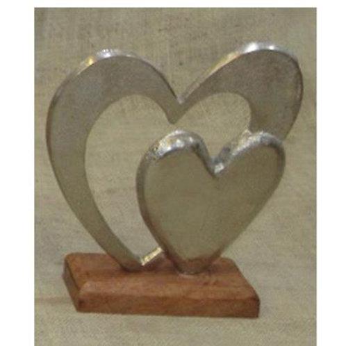 Aluminium Double Heart