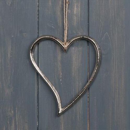 Hanging Aluminium Heart