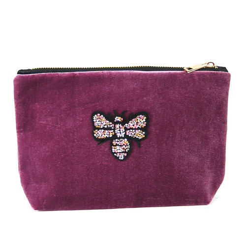 Bee Clutch Bag - Purple