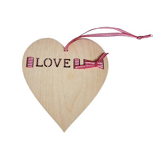 LOVE Wooden Heart