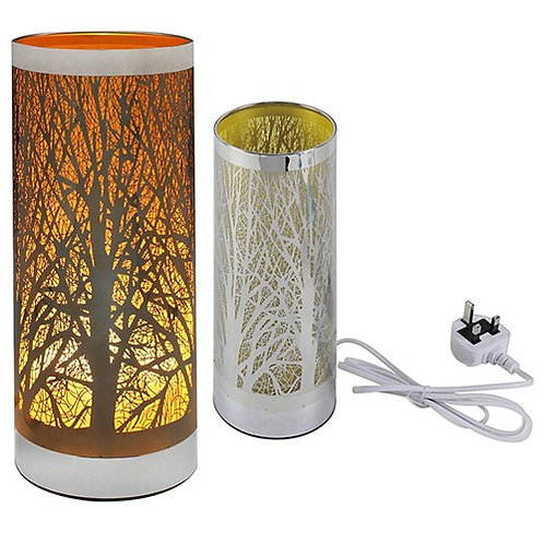Tree Cylinder Lamp - Gold