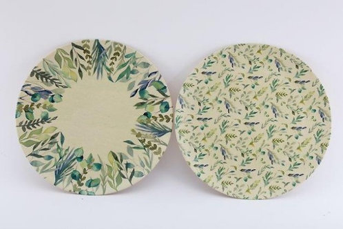 Olive Grove Bamboo Plate (Set of 4)