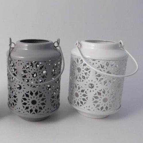 Grey & White Metal Lanterns