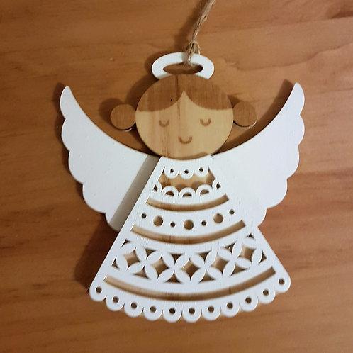 White Wooden Angel
