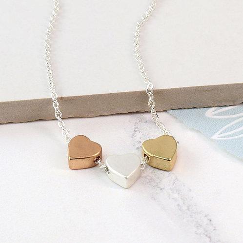 DN20012 Three Hearts Necklace