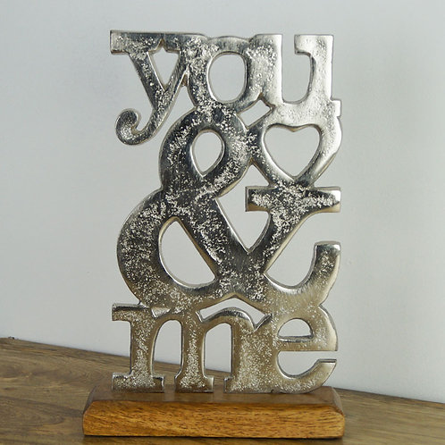 You & Me - Aluminium on Wood