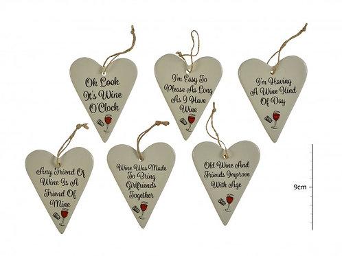 Ceramic Wine Hearts