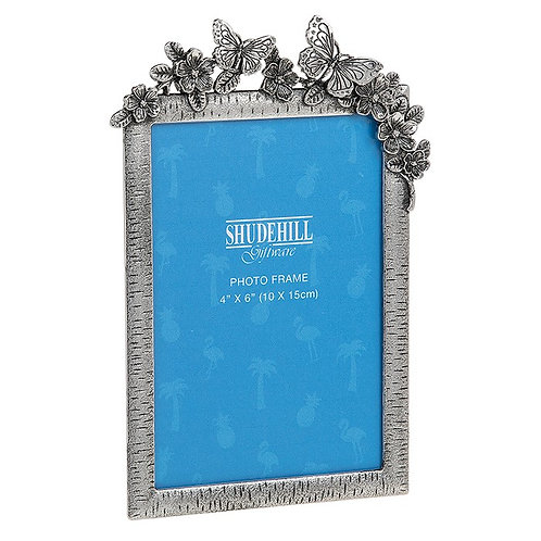 Pewter Butterfly Frame