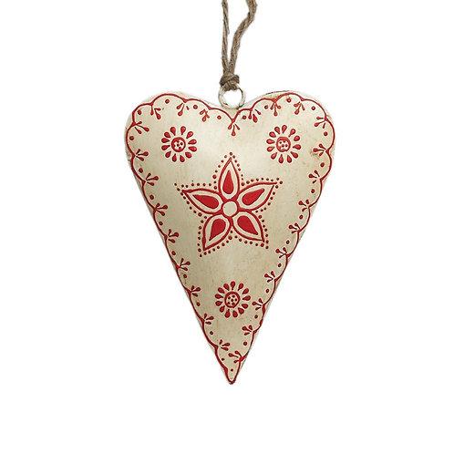 Cream Rustic Flower Heart