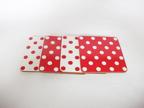 Polka Dot Coasters (Set of 4)